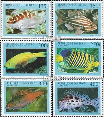 Benin 978-983 mint never hinged mnh 1997 marine fish