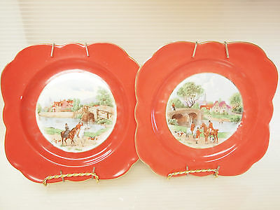 VTG  PLATES EQUESTRIAN RIDING by CROWN VICTORIA CZECHOSLOVAKIA (1919-1945s)