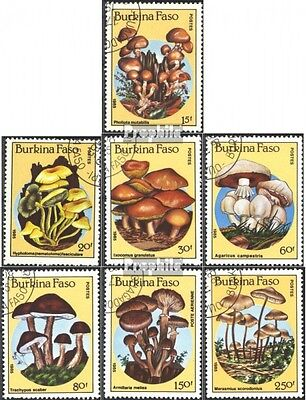 Burkina Faso 1054-1060 mint never hinged mnh 1985 Mushrooms