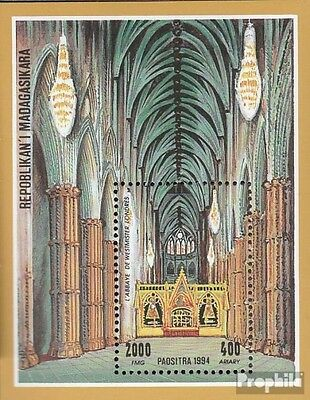 Madagascar block259 mint never hinged mnh 1994 Cathedrals