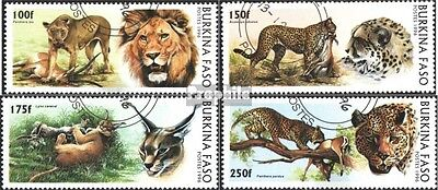 Burkina Faso 1437-1440 mint never hinged mnh 1996 Big Cats