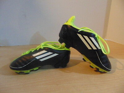 Soccer Shoes Cleats Childrens Size 11 Adidas F50 Black Green