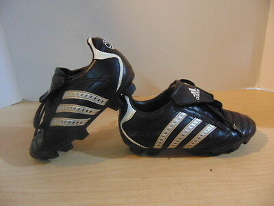 Soccer Shoes Cleats Childrens Size 12 Adidas Black Silver