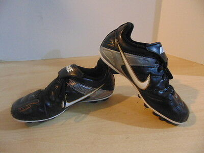 Soccer Shoes Cleats Childrens Size 12 Nike Black Gold