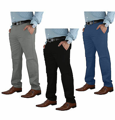 Casual Mens Chino Jeans Cotton Pants Slim Fit Straight Leg Bottom Trousers