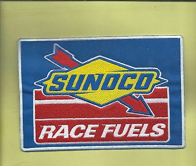 New 5 X 71/4 Inch Sunoco Race Fuels Iron On Patch Free Shipping