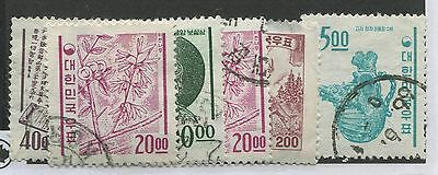 Korea 6 Used Stamps