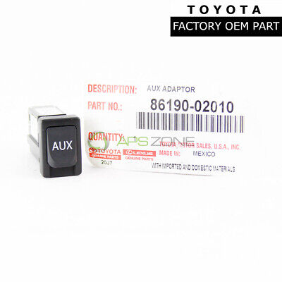 Factory Toyota Tacoma Highlander Sequoia Sienna Auxiliary Adapter Oem 8619002010