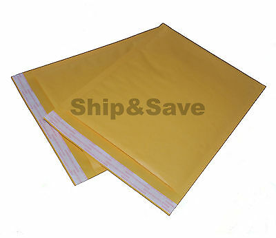 100 Kraft Bubble Mailers 8.5 x 12 Self Seal Padded Shipping Envelopes Bags