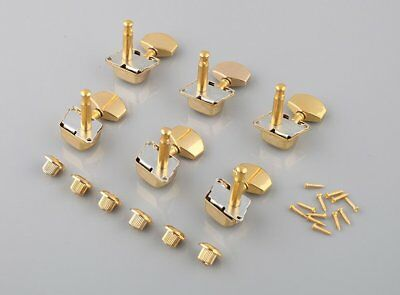 Gold Semiclosed Tuning Pegs Machine Heads For Acoustic Guitar 3x3