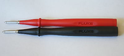 Fluke Tp1 Slim-Reach Flat Blade Test Leads Stainless Steel Tip 1000V New!