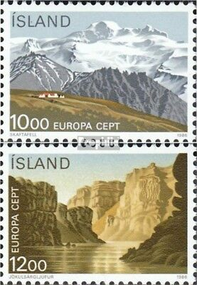 Iceland 648-649 mint never hinged mnh 1986 Conservation