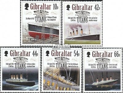 Gibraltar 1461-1465 mint never hinged mnh 2012 downfall the Titanic