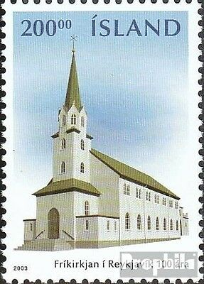 Iceland 1033 mint never hinged mnh 2003 Free Church