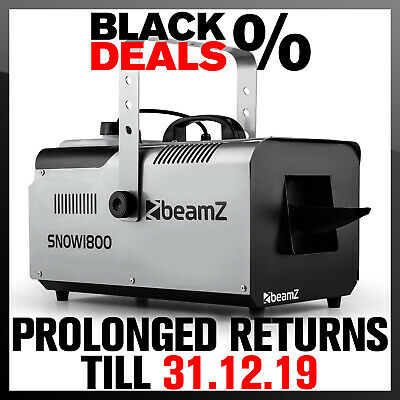 Beamz Snow Machine 2.5 Litre 1800W Special Stage Effects Xmas Party Fun