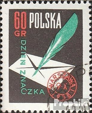 Poland 1068 fine used / cancelled 1958 Day the Stamp