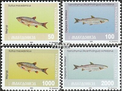 Macedonia 8-11 mint never hinged mnh 1993 Fish