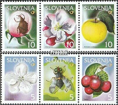 slovenia 302-304,313-315 triple strip mint never hinged mnh 2000 Locals Fruits
