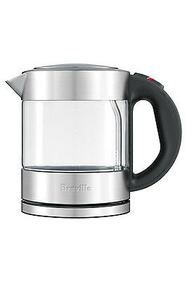 NEW Breville BKE395 the Compact Kettle Pure: Brushed Stainless Steel & Glass