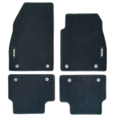 Vauxhall Insignia A FACELIFT Velour Black Front/Rear Floor Car Mats GENUINE OE