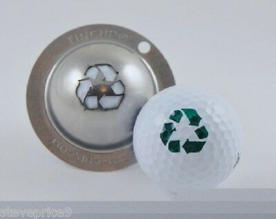 paraTIN CUP. golf BALL MARKER sistema GO FOR THE GREEN