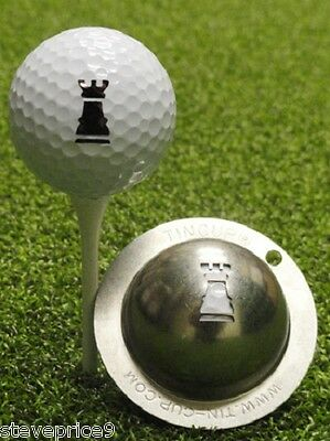 Tin Cup. Golf Ball Marker Sistema Rookie. Knight. Ajedrez Piezas