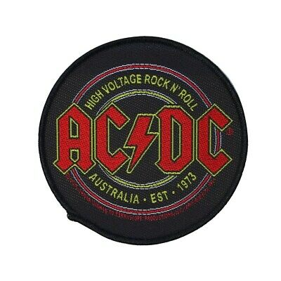 "Circular ""AC/DC: High Voltage Rock & Roll"" Logo Patch ACDC Band Sew-On Applique"