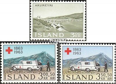 Iceland 372,375-376 (complete issue) used 1963 special stamps