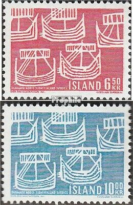 Iceland 426-427 (complete issue) used 1969 Sailboats