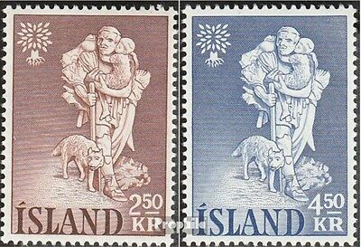 Iceland 340-341 (complete issue) used 1960 World Refugee Year 1