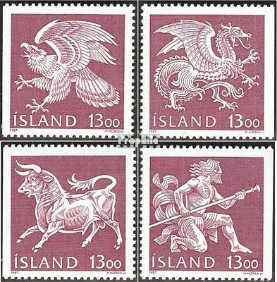 Iceland 674-677 (complete issue) used 1987 State Emblem
