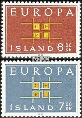 Iceland 373-374 (complete issue) used 1963 Europe