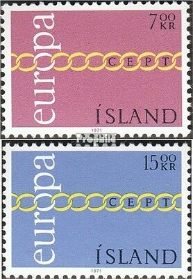 Iceland 451-452 (complete issue) used 1971 Europe