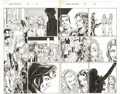 Ultimate Spider-Man #78 pgs.12&13 - Mark Raxton DPS - 2005 art by Mark Bagley