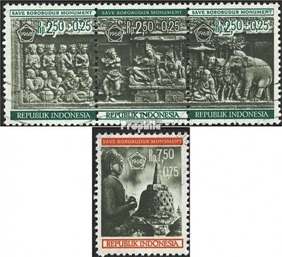 Indonesia 599-602 triple strip (complete issue) used 1968 Sanct