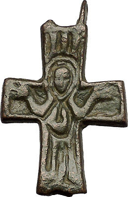 Bronze Ancient Christian Byzantine Cross Artifact circa 800-900AD i53951