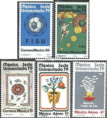 Mexico 1624-1628 (complete issue) unmounted mint / never hinged 1979 Universiada