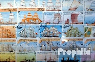 Motives 300 different Vessels and Boats stamps
