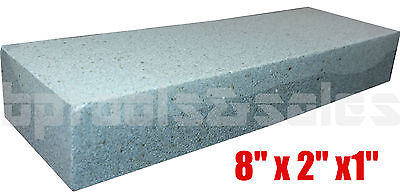 "8"" Aluminium Oxide Sharpening Stone Dual Grit Hone Knife Blade Sharpener Fishing"