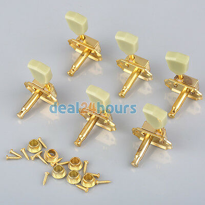 Gold Deluxe Guitar Tuning Peg Machine Heads Tuners 3R3L