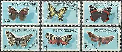 Timbres Papillons Roumanie 3587/92 o lot 10486