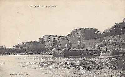 Cpa Brest Le Chateau
