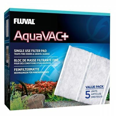 Fluval AquaVAC+ Replacement Fine Filter Pad (Pack of 5) Aqaurium Gravel Cleaner