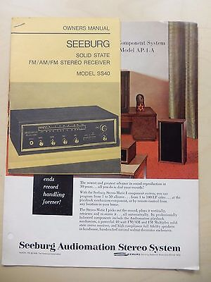 Original Seeburg Stereo Receiver Model SS40 Jukebox Manual and Flyers
