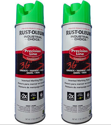 Rust-Oleum Survey Grade Flo Green 203023 Inverted Marking Paint Two (2) Cans
