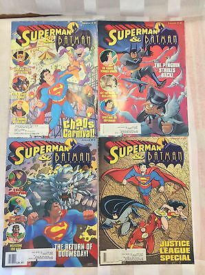 Vintage Lot Of 4 Superman & Batman Magazine 5,6,7,8