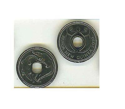 """Papua New Guinea: 2010 Uncirculated 1 Kina """"holey"""" (Reduced Size)"""