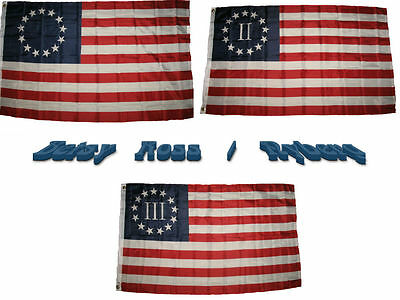 3x5 ft Wholesale Lot Betsy Ross Nyberg II III Set Flags Flag 3'x5'