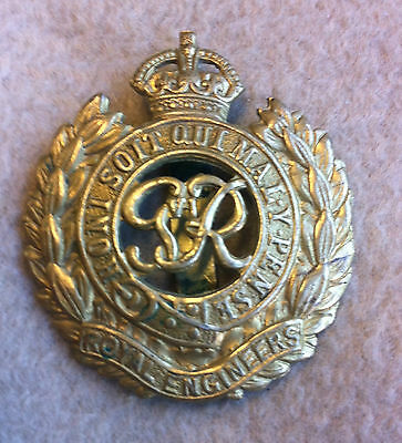 WW2 King George VI Royal Engineers (United Kingdom) Cap Badge