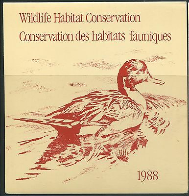 Canada B.o.b. Federal Wildlife Habitat Conservation #Fwh4 Mint Duck Stamp (A)